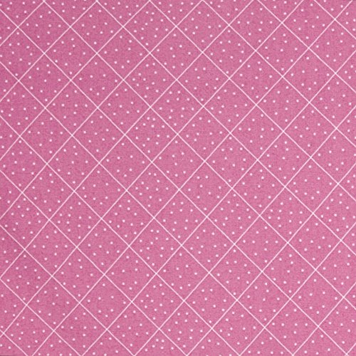 Quilting Treasures QT Fabrics Cottage Dotted Diamond Check Pink