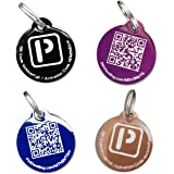 PetDwelling Discount Pack QR Code Pet ID Tags (4 tags) w/Online Pet Profile/Scanned GPS Location(HOLIDAY DEAL)