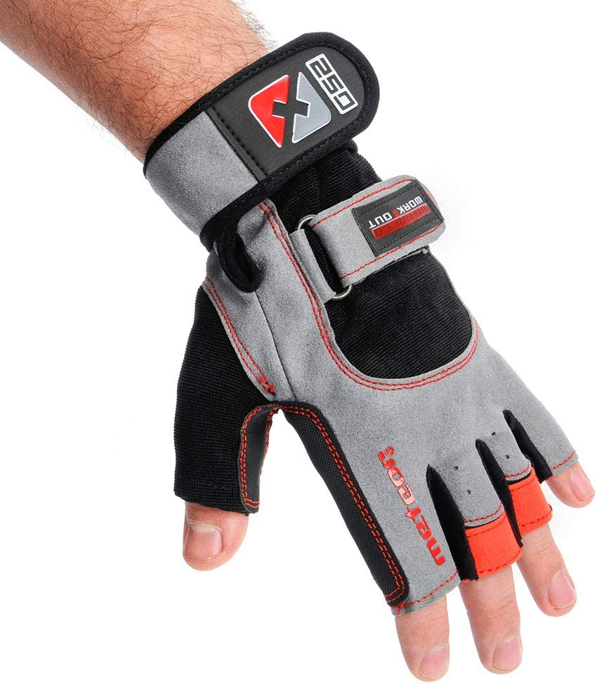 meteor Gym Gloves Weight Lifting Gloves Wrist Support For Men Women Workout Kettlebell Dumbell Bodybuilding Powerlifting Weightlifting Wheelchair Training Glove Palm Finger Protection Hands Support
