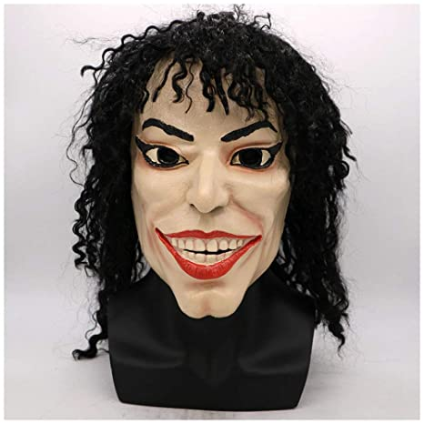 YN Halloween Funny Mask Wig Michael Jackson Plays Props Fiesta de Baile Bar Party Performance Props