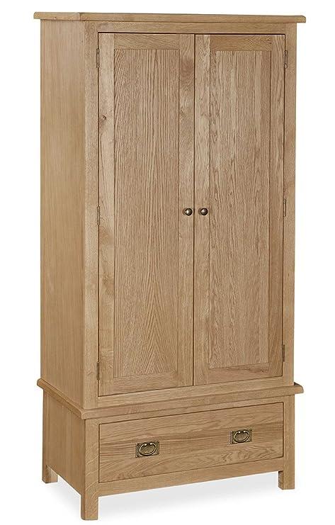 purchase cheap 6db6b 92dfb Roseland Furniture Surrey Oak Gents Wardrobe, Light Honey ...
