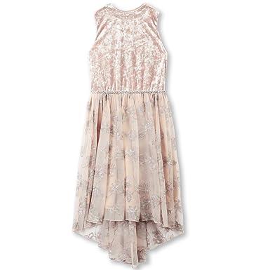 e76bd28d4706 Amazon.com  Speechless Girls  Big Crushed Velvet Bodice Dress with Mesh  Skirt  Clothing
