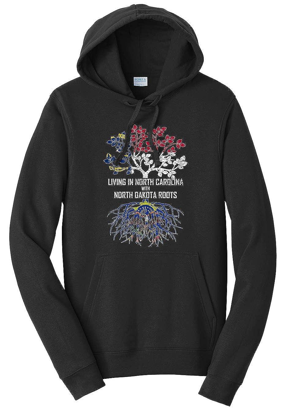 Tenacitee Unisex Living in North Carolina North Dakota Roots Sweatshirt