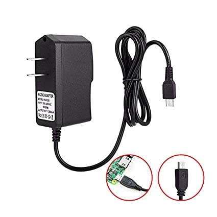 SunFounder AC Adapter Raspberry Pi 3/2/B+/B 5V 2 5A Power Supply Adapter  Portable Charger Micro USB 1m 3 3feet