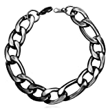Amazon Price History for:U7 316L Stainless Steel Based Figaro Chain Link Bracelet 21CM Long, 5mm 9mm 12mm Wide