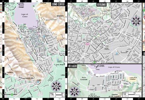 Streetwise Italian Lake District Map Laminated Regional Map