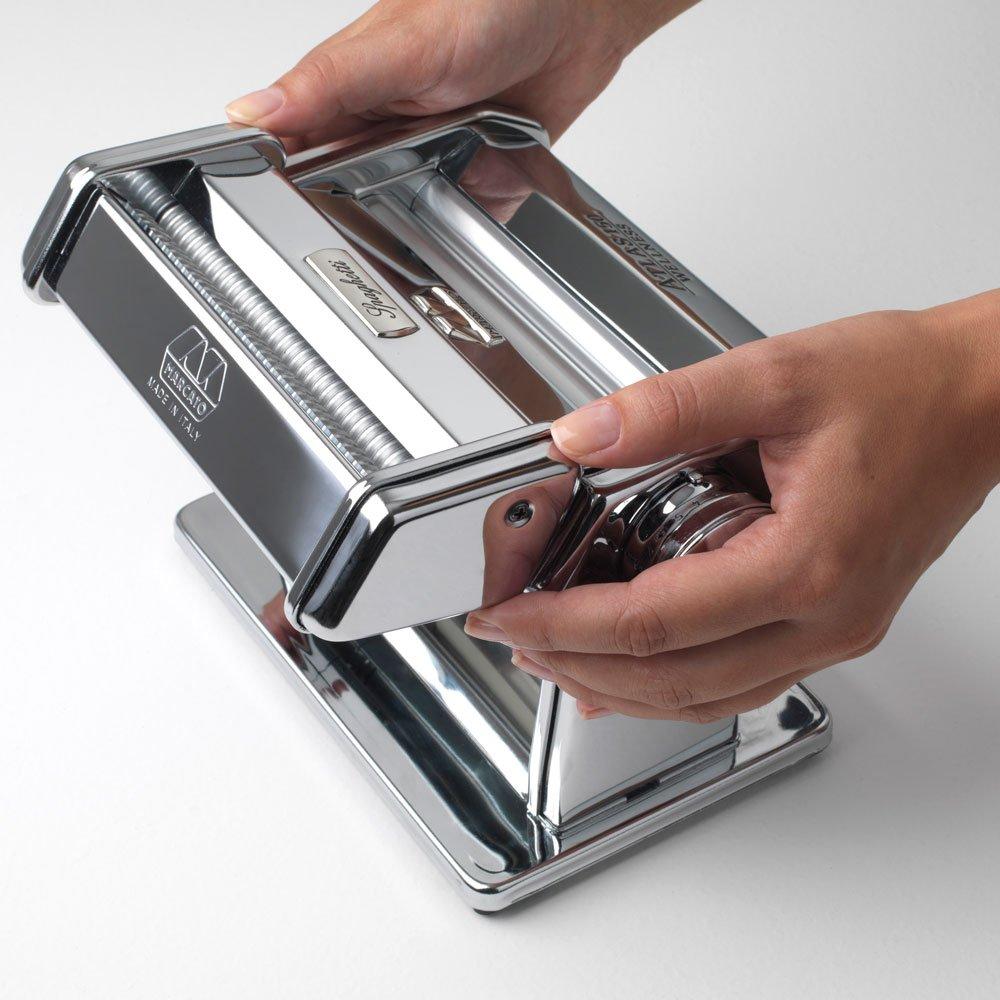 Acero Inoxidable 8 X 17.7 X 4.5 Cm Plata Marcato Accesorio Spaghetti M/áquina para Pasta Atlas 150