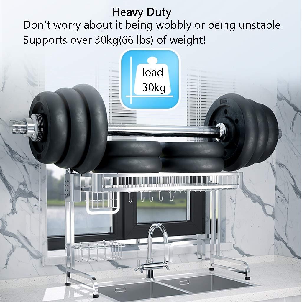 Rack de secado sobre el fregadero: gran estante para platos de ...
