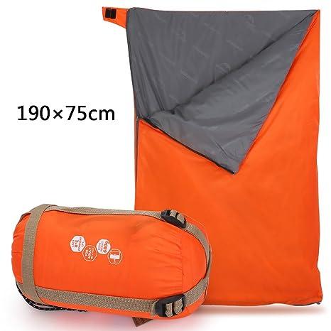 Saco De Dormir Impermeable Ultraligero Con Forma De Sobre 190 * 75cm Para Camping Al Aire