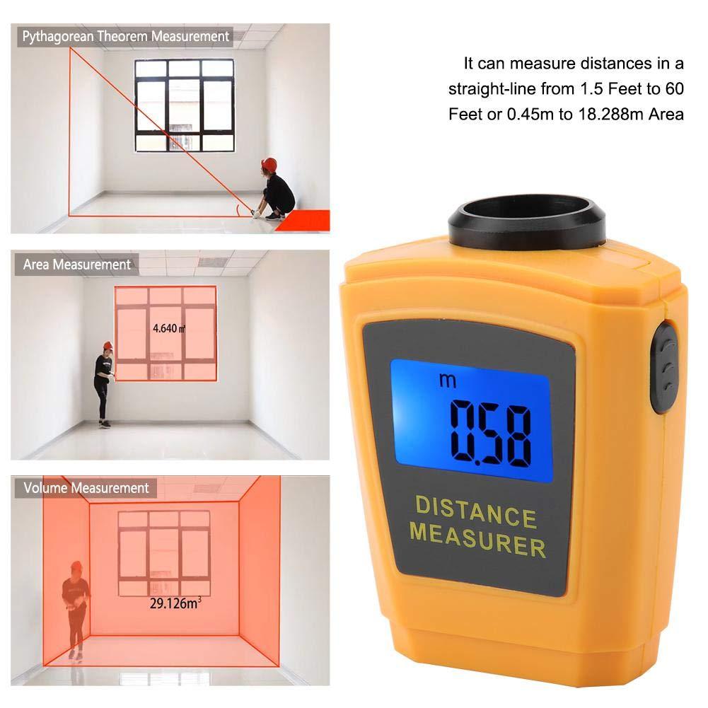 CP-3005 LCD digital de mano Medidor de distancia de distancia Medidor de mano L/áser ultras/ónico Medidor de distancia herramienta de medici/ón Laser Range Finder Laser Range Finder
