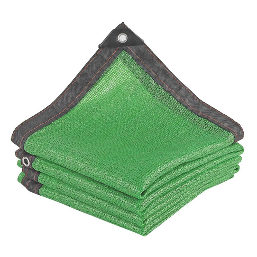 Gartengarten-Pflanzenschutznetz Balkonisolationsschirmnetz Abschattungsrate 80/% verschl/üsseltes Polyethylen-Sonnenschutznetz Gr/ünes 6-Pin-Schattennetz