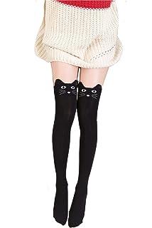 bc351045da6 Geoot Women Cute 3d Cartoon Animal Pattern Thigh Stockings Over Knee High  Socks