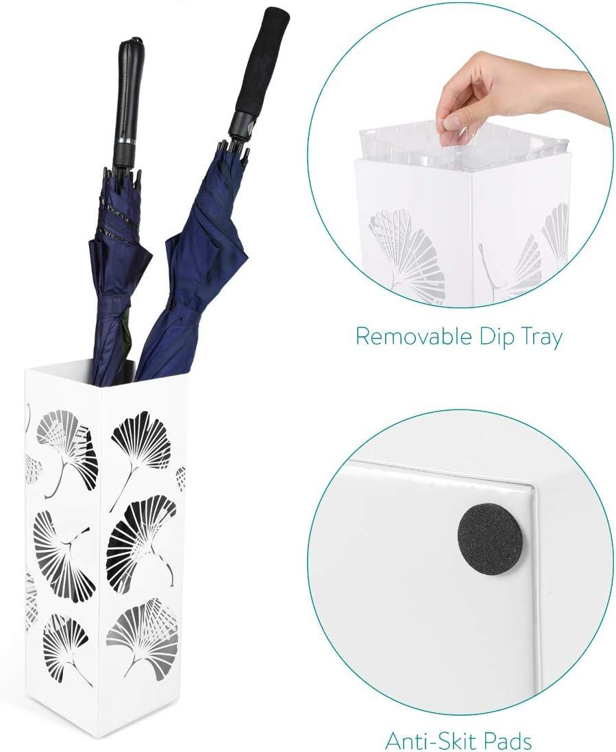Stand Rangement Design pour Parapluies 15,5 cm x 15,5 cm x 48 cm avec 1x Plateau Navaris Porte-Parapluie D/écoration dEntr/ée Couloir Bureau