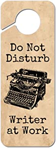 Graphics and More Do Not Disturb Writer at Work Plastic Door Knob Hanger Sign