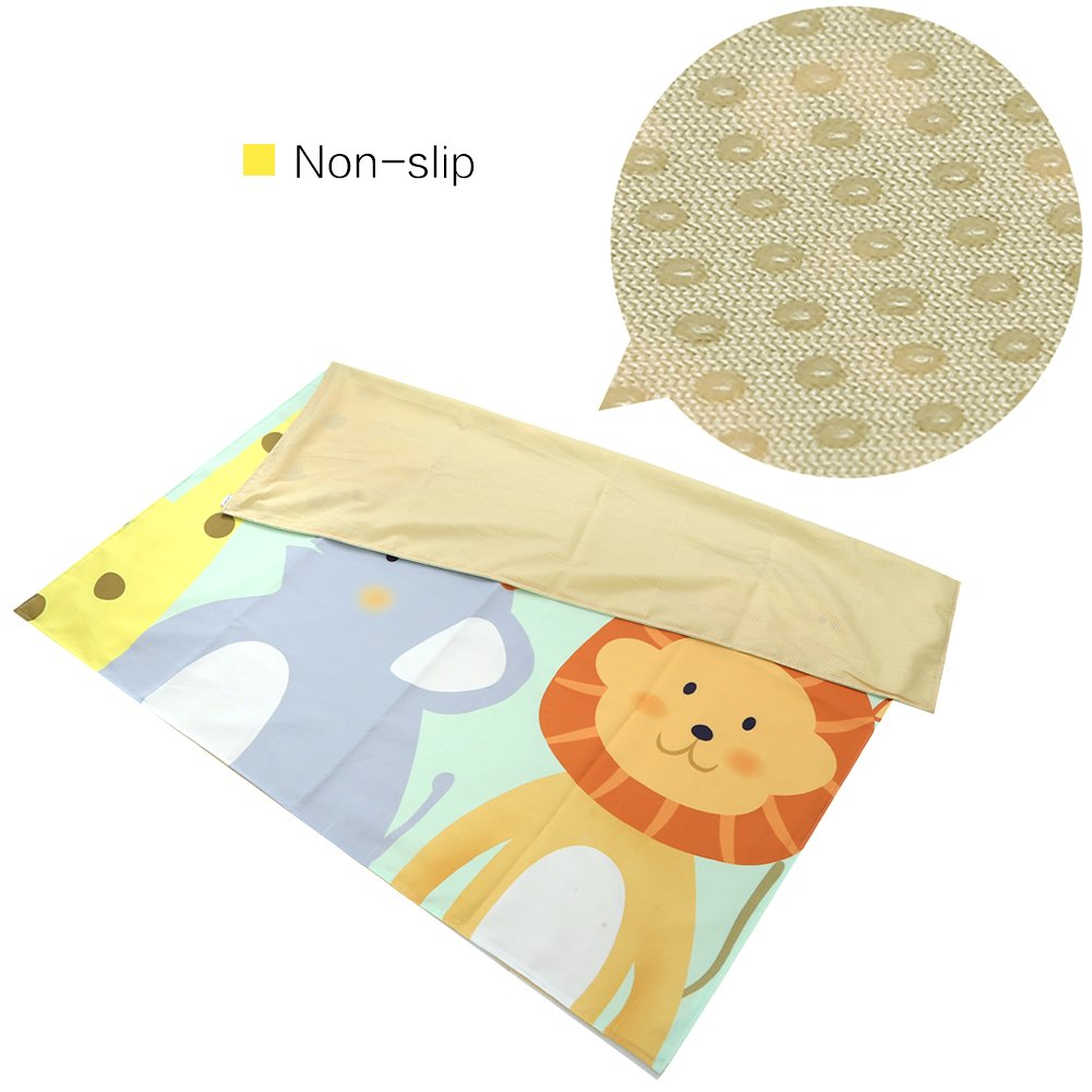 Zicac 51'' Splat Mat for Under High Chair - Anti-Slip, Washable, Portable Picnic Mat and Table Cloth, Art Crafts Floor/Carpet Protector (Giraffe) by Zicac
