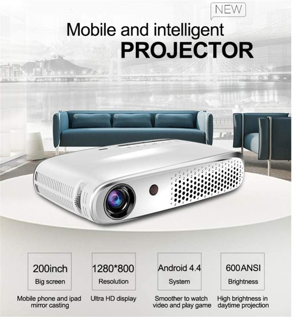 Proyector Inteligente De WiFi DLP, 2250 Lúmenes Portátil con ...