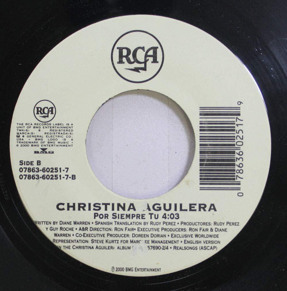 Christina Aguilera 45 RPM Por Siempre Tu / I Turn To You ...