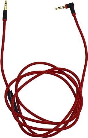Audio Cable Headphones Mic Control Talk Cables L Cord 3.5MM