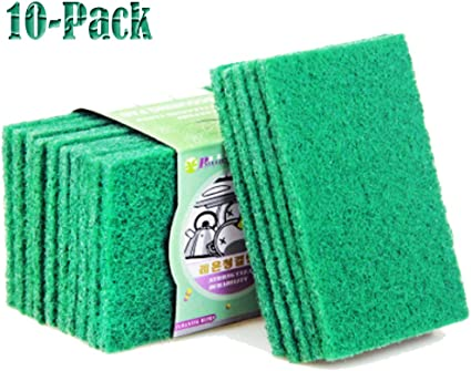 Scouring Pads 10 pk Nylon Pot /& Dish Scrubbers Kitchen Bathroom Cleaning