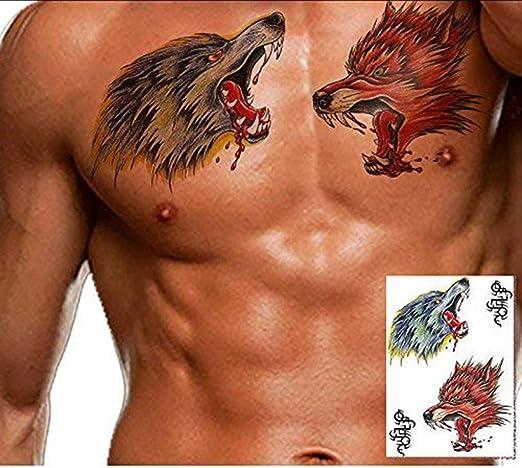 ANNIUP Tatuajes de Halloween Lobo Horror Herida Scary Blood Tatuajes Falsos Cicatrices Maquillaje Sangriento Halloween Lesión calcomanía Decoración Cosplay Disfraces Fiesta Pegatinas, 5 Piezas: Amazon.es: Hogar