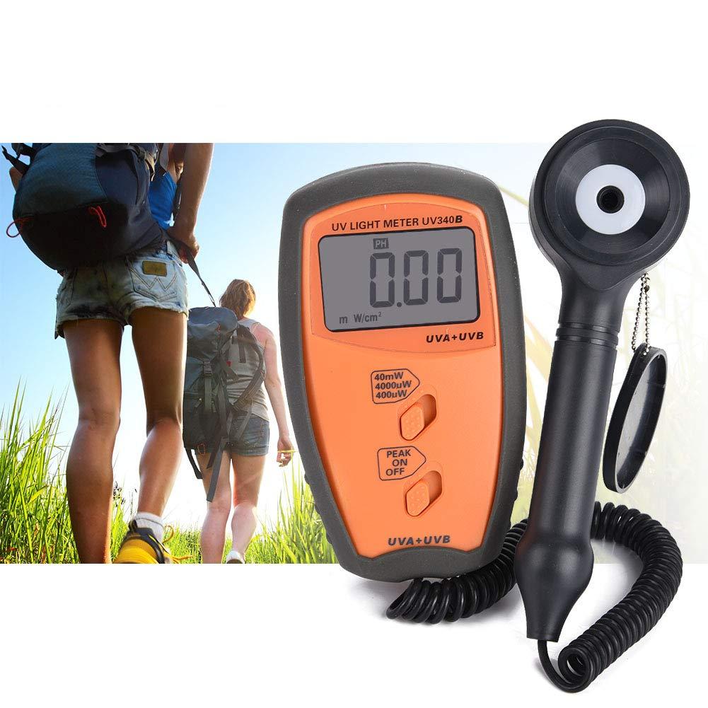 Digital Illuminance Light Meter, UV340B Portable Handheld UV UVA UVB Intensity Measure Tester Photometer Luxmeter Environmental Lighting Testing Tool by Nannday
