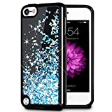 ipod 5 case light blue - iPod Touch 5/6 Case, Caka iPod Touch 6 Glitter Case [Starry Night Series] Luxury Fashion Bling Flowing Liquid Floating Sparkle Glitter Girly TPU Bumper Case for iPod Touch 5/6 - (Blue)