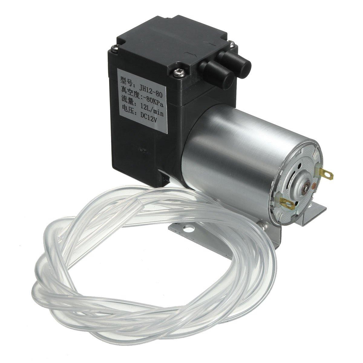 DC 12V Mini Vacuum Pump Negative Pressure Suction Pump 12L/min 120kpa With Holder