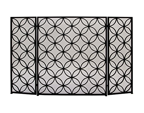 Best Buy! Deco 79 50377 Striking Metal Fire Screen, 48 W x 30 H
