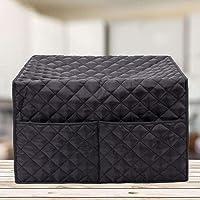 Cubierta para horno tostador con bolsillos para accesorios compatible con horno de convección, cubierta de tostadora…