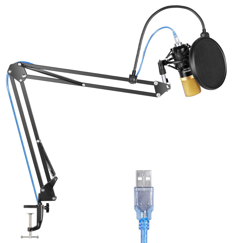 Neewer Nw-7000 Microfono Usb Negro Con Soporte De Suspens...