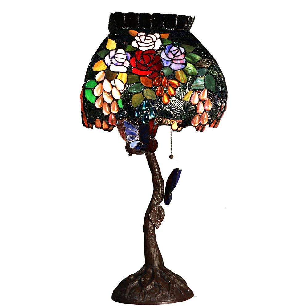 Warehouse Of Tiffany 3766 Bb 1105 2 Light Bambi Tiffany Style