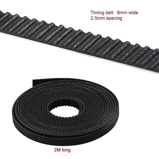 RUNCCI 2pcs 5mm 20 dientes GT2 Rueda de la polea de la correa + 2M GT2 2mm Paso 6mm de ancho Correa dentada forma de impresora 3D Piezas CNC: Amazon.es: ...