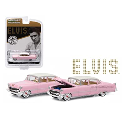 Greenlight Elvis PRESLEY'S 1955 Pink Cadillac Fleetwood Series 60 GL Hollywood Series 14 Collectibles 1:64 Scale 2016 Die-Cast Vehicle: Toys & Games