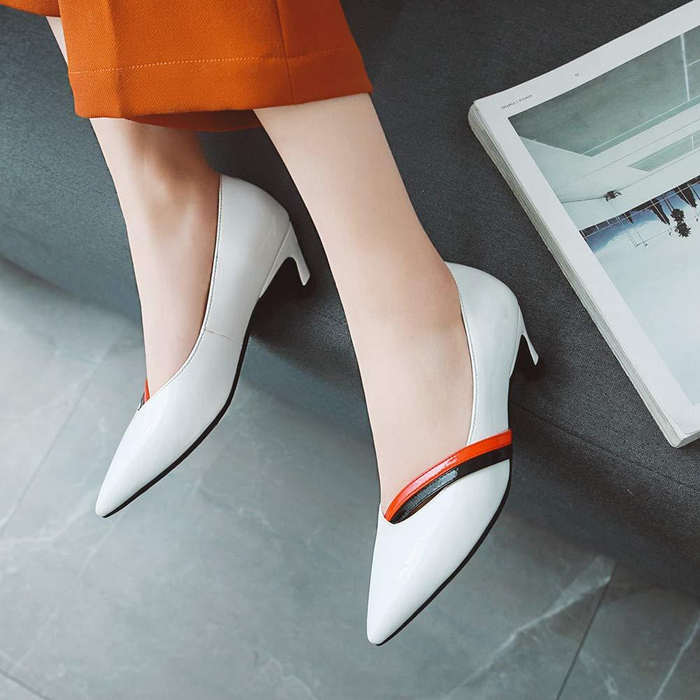 Women's Pointy Toe Soft Pumps Low Heel Stiletto Wedding Bridal Wedding Stiletto Party Dress Shoes Office Lady B07G982XZZ Western 24e786