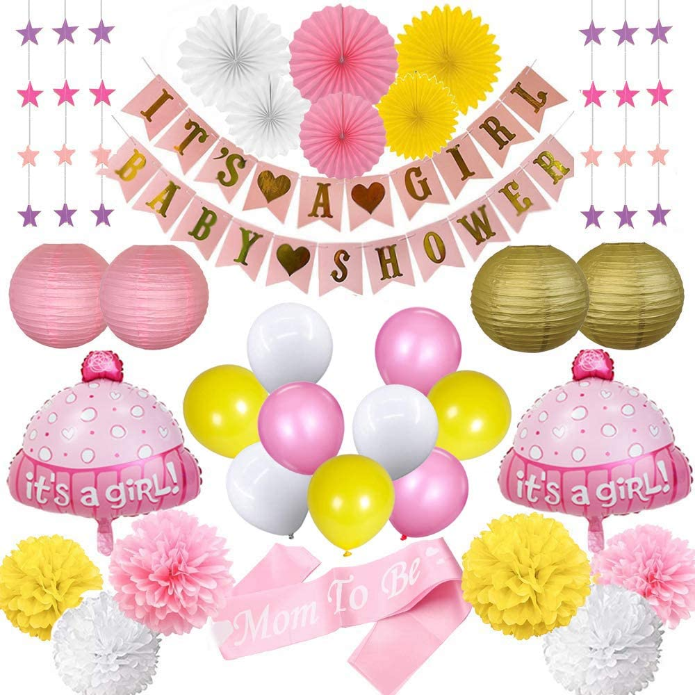 baby shower gift baby girl girls room metallic gold PINK and AQUA girls nursery pennant banner girls birthday BUNTING gold bows