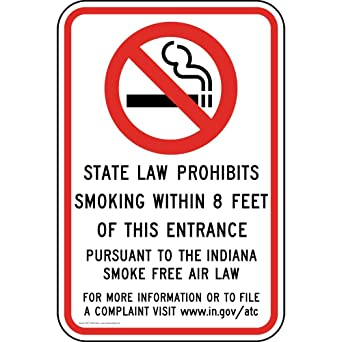 4-Pack Vinyl for No Smoking by ComplianceSigns Smoking is Prohibited Within 25 Feet of Building Label Decal 5x3.5 in
