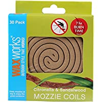Waxworks Incense Coil pack of 30 Citronella and Sandalwood