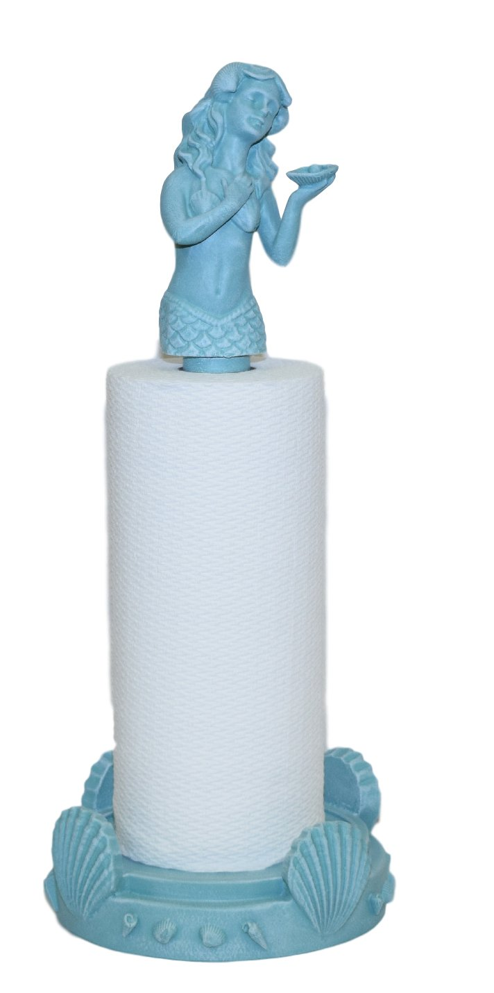 Hickory Manor House Mermaid Paper Towel Holder/Turquoise by Hickory Manor House