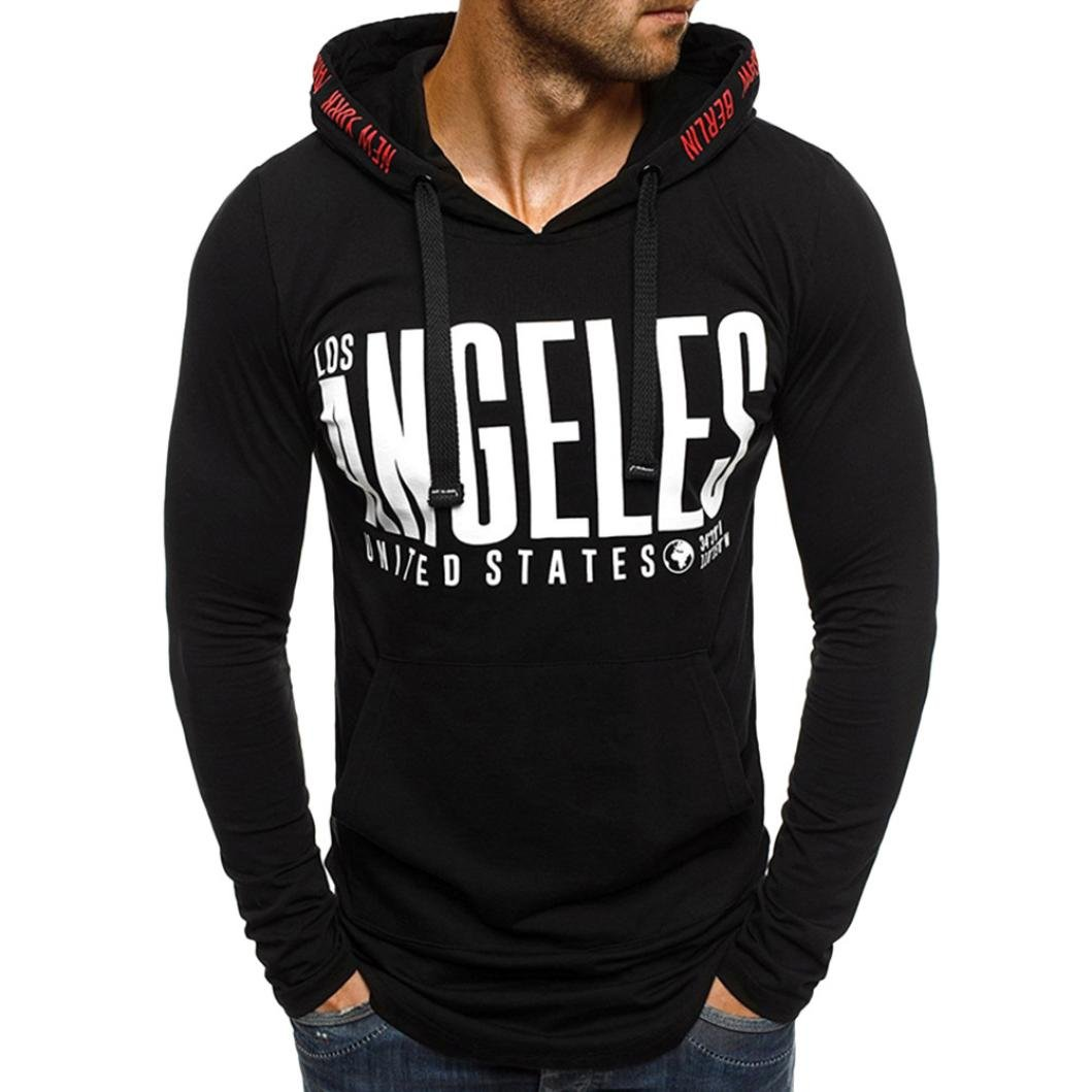 Clearance Sale! Wintialy Fashion Men's Autumn Print Long Sleeved Pullover Hoodie Sweatshirts Top Blouse