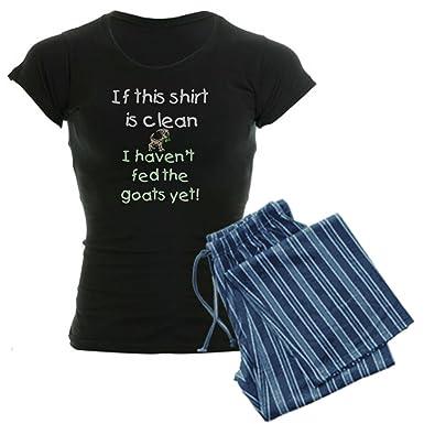 3132df0b02bc CafePress Goats-Clean Shirt haven't fed Women's Dark Pajamas Womens Novelty  Cotton Pajama