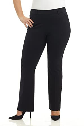 Rekucci Curvy Woman Ease in to Comfort Fit Barely Bootcut Plus Size Pant  (14W b0c170a99436