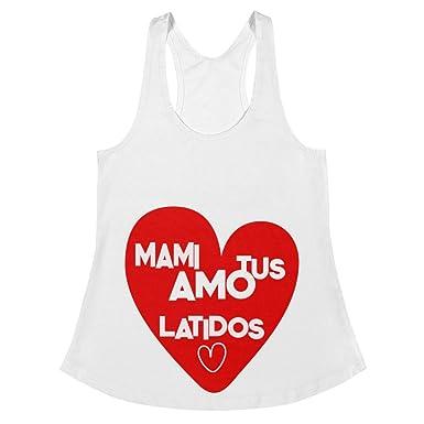 Maternidad Sin Filtro Mamá amo Tus latidos Camiseta Sin Manga