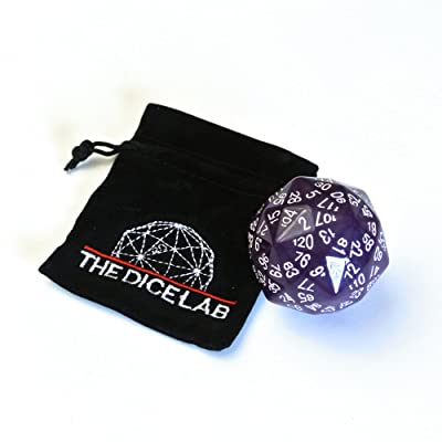 The Dice Lab 120-sided Die in Purple: Toys & Games
