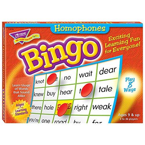 Trend Enterprises Homophones Bingo Game (760 (T-6132 Bingo)