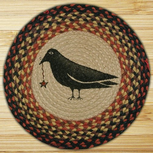 Capitol Importing 49-CH919CS Crow & Star - 15.5 in. Round Chair Pad from Capitol Importing Company
