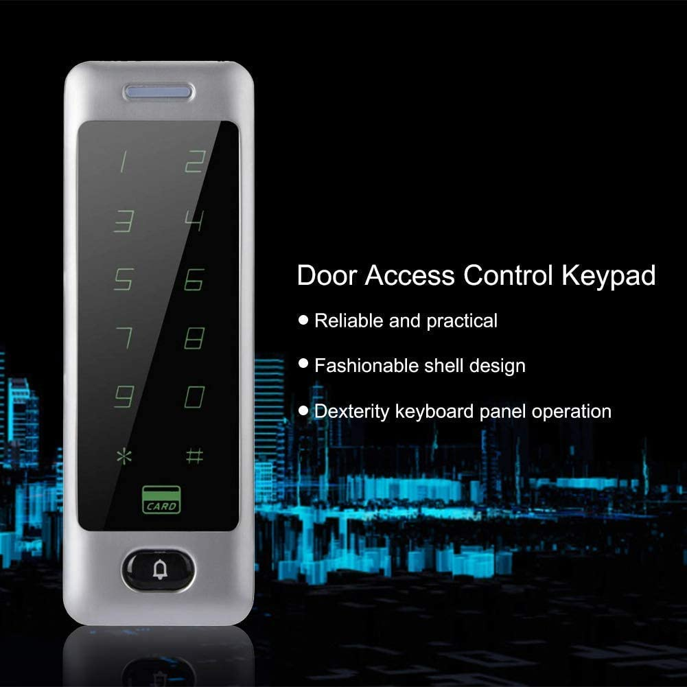 Password Access Control System Keypad Electronic Smart Lock with Keypad Zinc Alloy Touch Panel for Apartments//Houses//Office