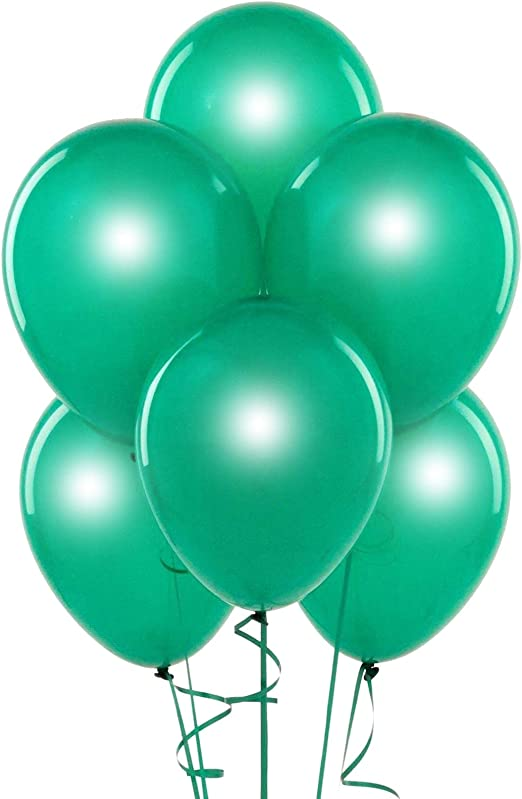 "5/"" Pearl Emerald Green Latex Balloons 100 Count"