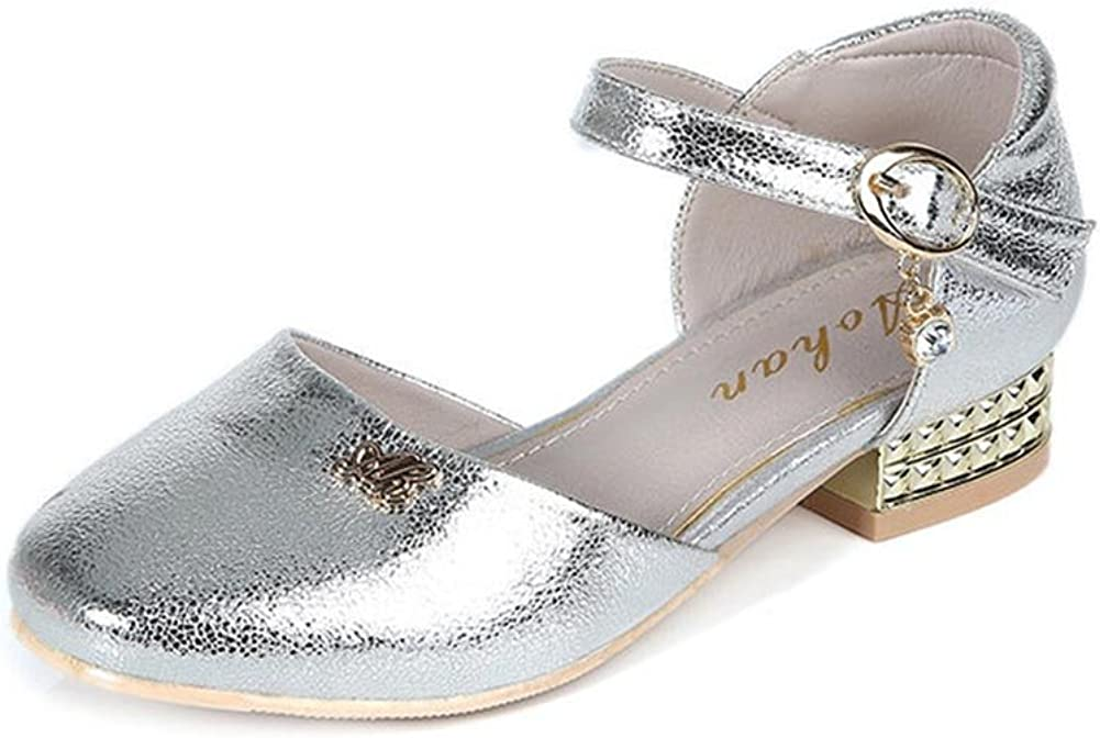miaoshop Kids Low Heel Ankle Strap Mary Jane Dance Dress Party Shoes