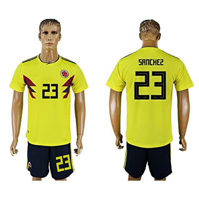 2018 World Cup Colombia National Team #23 Soccer Jersey