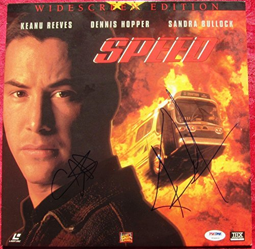 Sandra-Bullock-Keanu-Reeves-Signed-Speed-Laser-Disc-Cover-Autograph